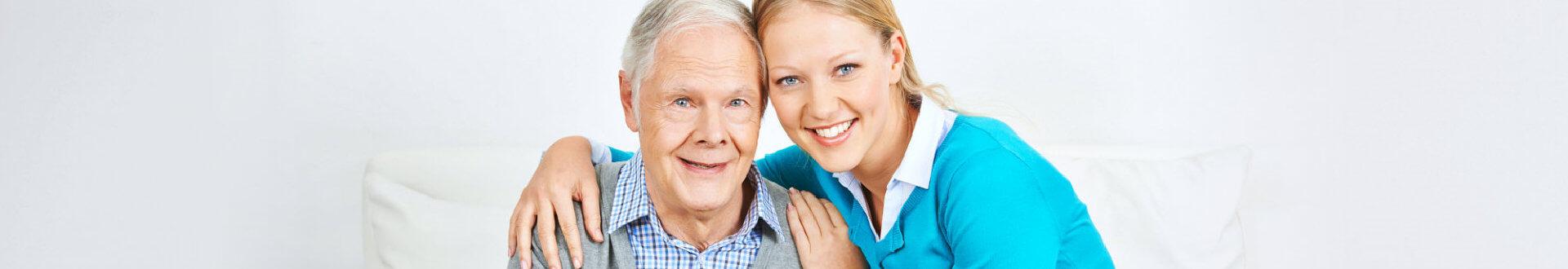caregiver smiling